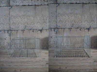 画像1: アンティーク メタルワイヤーボックス