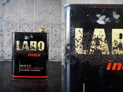 画像1: アンティーク LABO オイル缶 *