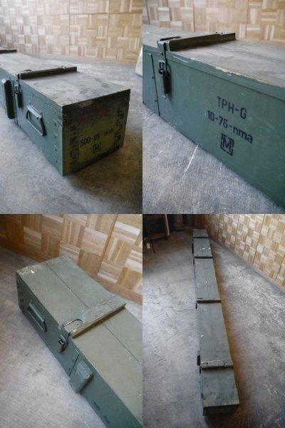 画像1: アンティーク 特大 ウッドボックス