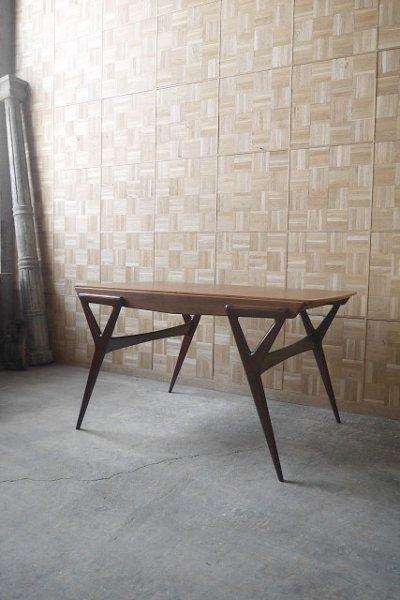 画像1: アンティーク louis paolozzi ウッドテーブル (1)