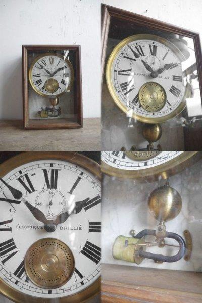 画像1: アンティーク ELECTRIQUE BRILLIE 壁掛け時計オブジェ