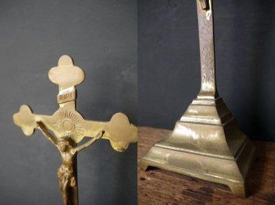 画像2: アンティーク INRI ブラス製 キリストオブジェ