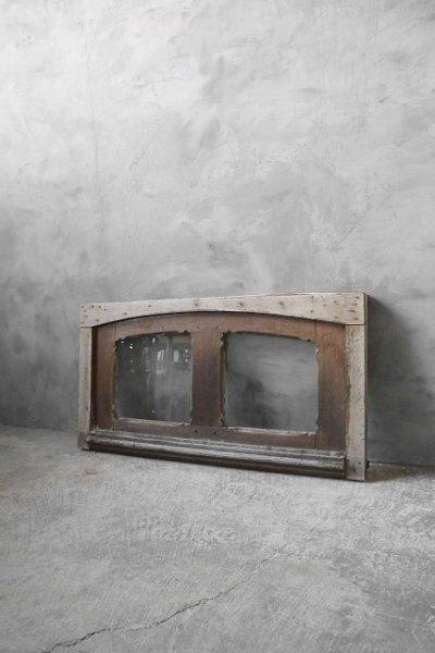 画像1: アンティーク ガラス窓枠 C (1)