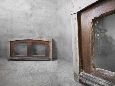 画像1: アンティーク ガラス窓枠 C