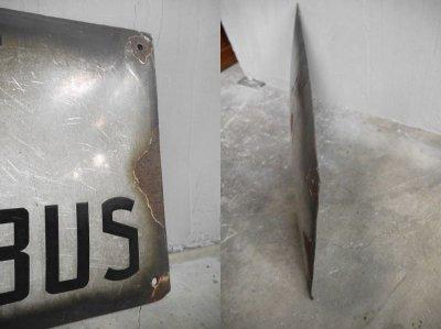 画像2: アンティーク ARRET DES TROLLEY BUS ホーロー製 プレート