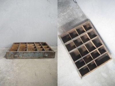 画像1: アンティーク ツール ウッドボックス A