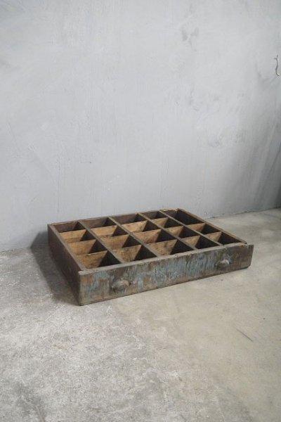 画像1: アンティーク ツール ウッドボックス A (1)