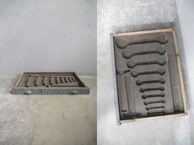 画像1: アンティーク ツール ウッドボックス B