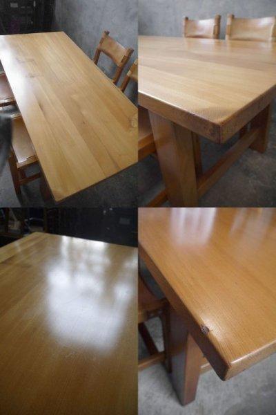 画像1: アンティーク maison regain社 テーブル&チェア4脚セット
