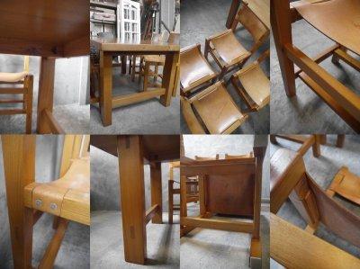 画像3: アンティーク maison regain社 テーブル&チェア4脚セット