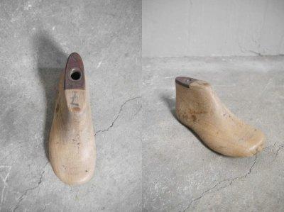 画像1: アンティーク キッズ靴木型 B