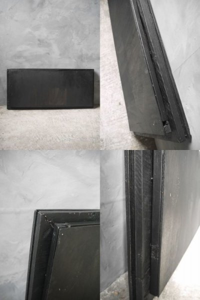 画像3: アンティーク ブラックフレーム アイアン装飾ミラー