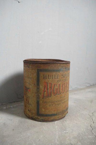 画像1: アンティーク AIGLOLINE メタル缶 (1)