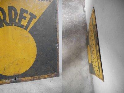 画像2: アンティーク AUTOBUS メタル製看板
