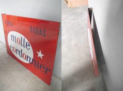 画像2: アンティーク motte cordonnier ホーロー看板