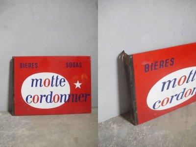 画像1: アンティーク motte cordonnier ホーロー看板