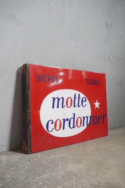 画像1: アンティーク motte cordonnier ホーロー看板 (1)