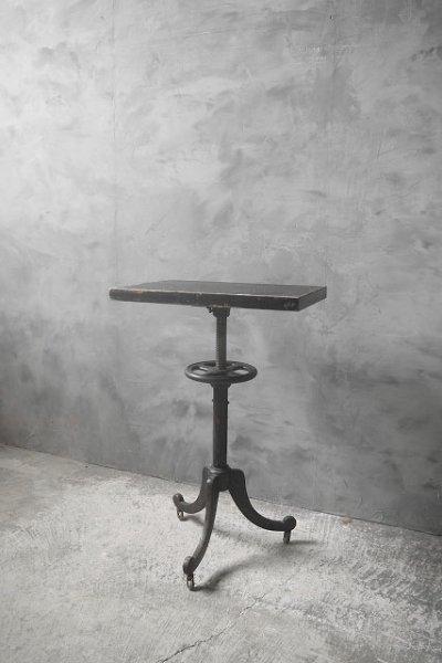 画像1: アンティーク アイアン×ウッド サイドテーブル (1)