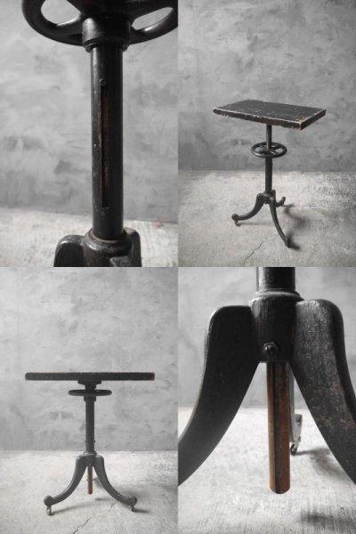 画像3: アンティーク アイアン×ウッド サイドテーブル