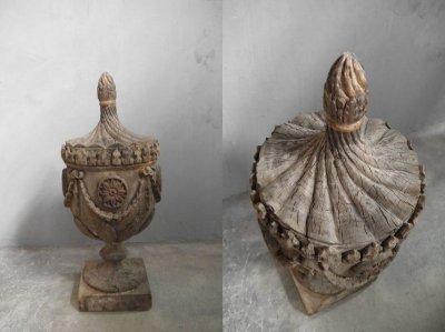 画像1: アンティーク ウッド 装飾オブジェ