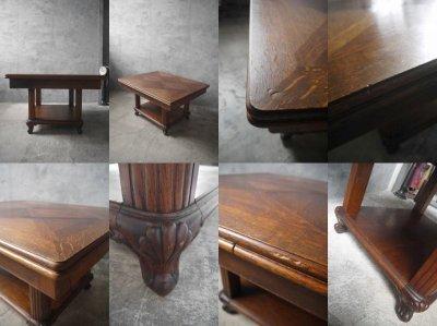 画像3: アンティーク モザイク天板 ドローリーフテーブル
