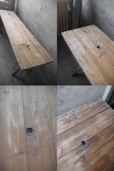 画像1: アンティーク 大型 ウッドテーブル