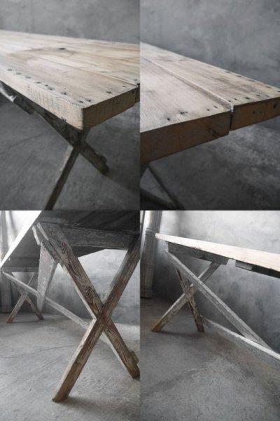 画像2: アンティーク 大型 ウッドテーブル