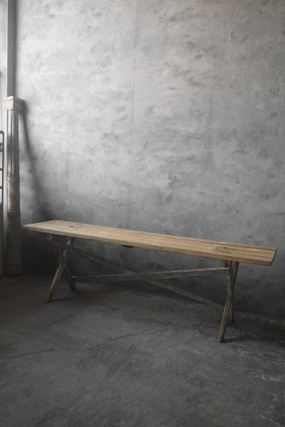 画像1: アンティーク 大型 ウッドテーブル (1)