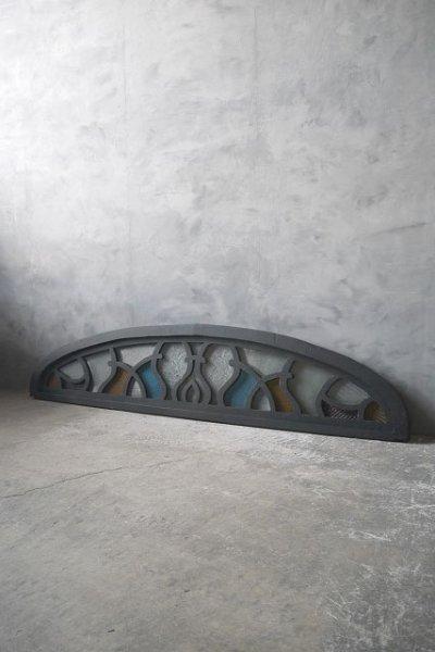 画像1: アンティーク ウッド×ガラス窓枠 オブジェ (1)
