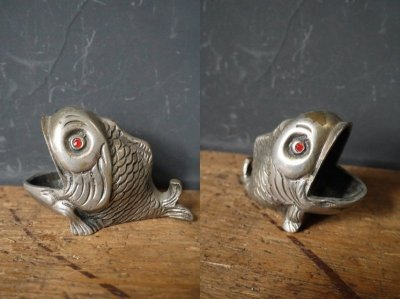 画像1: アンティーク メタル製 フッシュオブジェ
