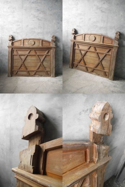 画像1: アンティーク ウッド 装飾デコレーション