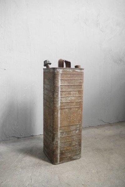 画像1: アンティーク インダストリアル メタル缶 B (1)