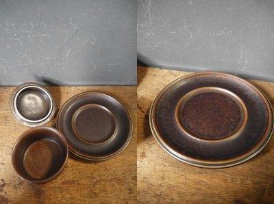 画像1: ビンテージ ARABIA FINLAND sugar pot & Saucer