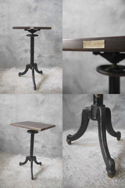 画像2: アンティーク アイアン×ウッド サイドテーブル
