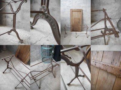 画像3: アンティーク アイアンベース ウッドテーブル