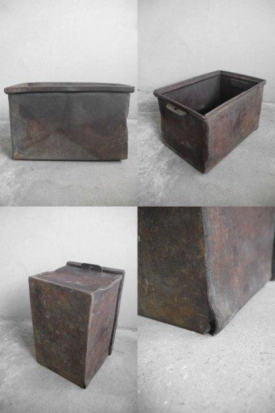 画像3: アンティーク インダストリアル  メタルボックス B