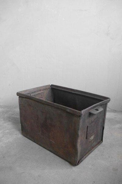 画像1: アンティーク インダストリアル  メタルボックス B (1)