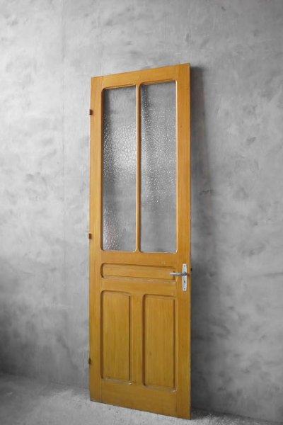 画像1: アンティーク フランス ガラス×ウッドドア C (1)