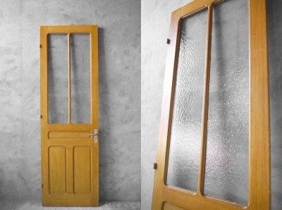 画像1: アンティーク フランス ガラス×ウッドドア C