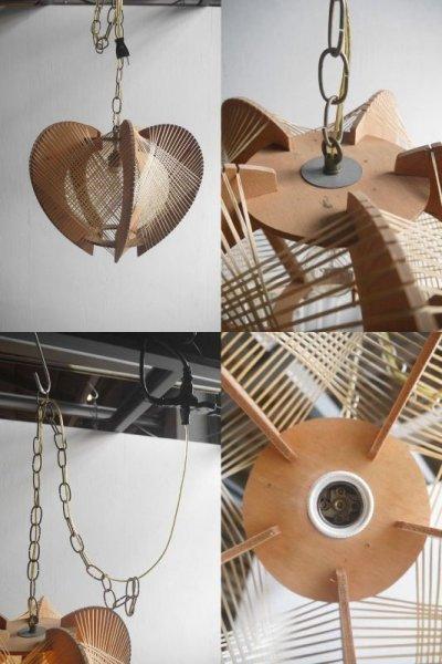 画像3: アンティーク ストリングスシェード 吊り下げランプ