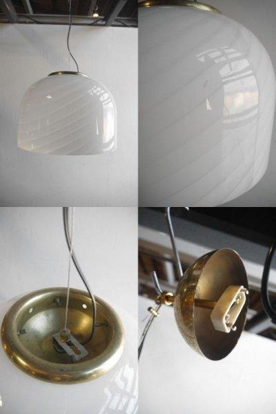 画像2: アンティーク Muranoガラスシェード 吊り下げランプ