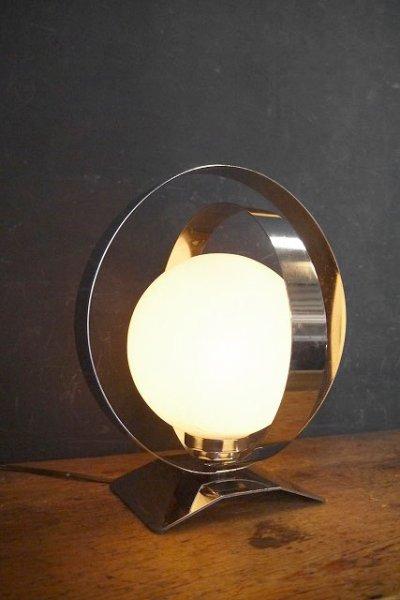 画像1: アンティーク ミルクガラス  テーブルランプ (1)