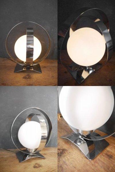 画像1: アンティーク ミルクガラス  テーブルランプ