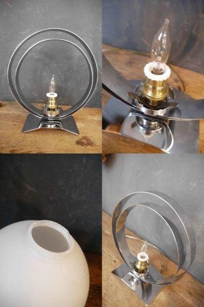 画像3: アンティーク ミルクガラス  テーブルランプ