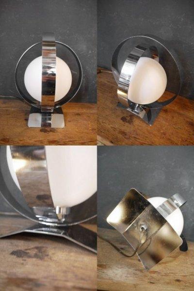 画像2: アンティーク ミルクガラス  テーブルランプ