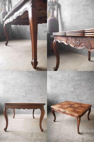 画像2: アンティーク モザイク模様 ドローリーフテーブル