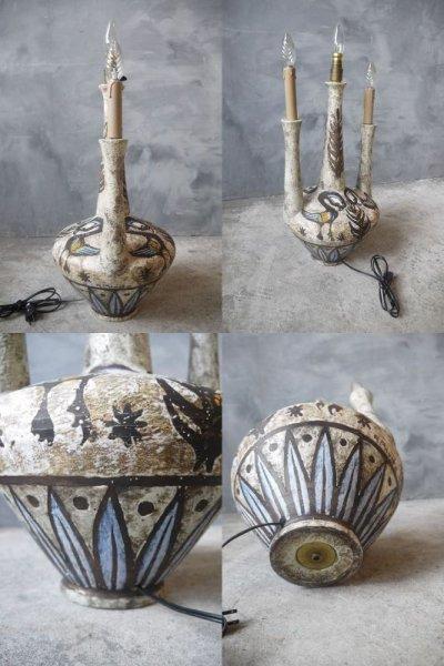 画像3: アンティーク 陶器製 テーブルランプ