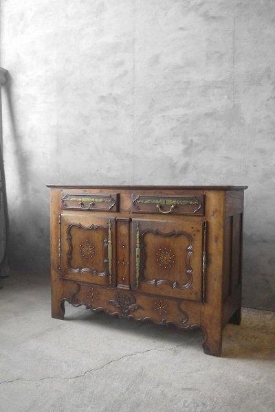 画像1: アンティーク 1800年代初期 バフェキャビネット (1)
