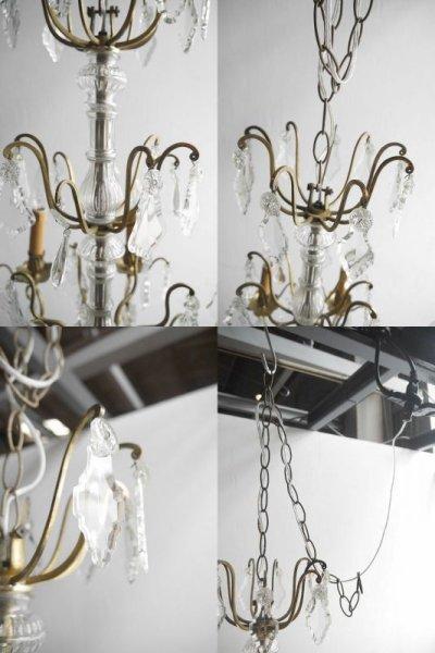 画像3: アンティーク ブラス製 6灯 シャンデリア
